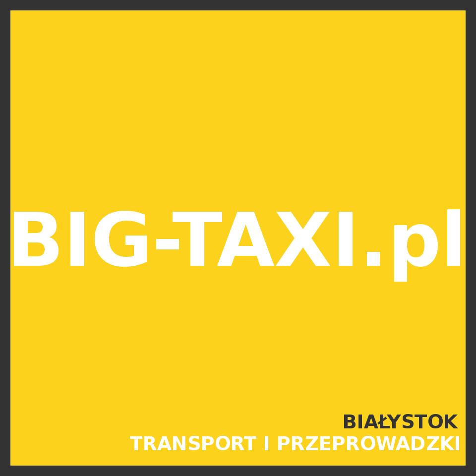 Transport i przeprowadzki Big-Taxi.pl 50zł/h 1zł/km